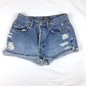 Vintage Gap high waist distressed denim shorts 29